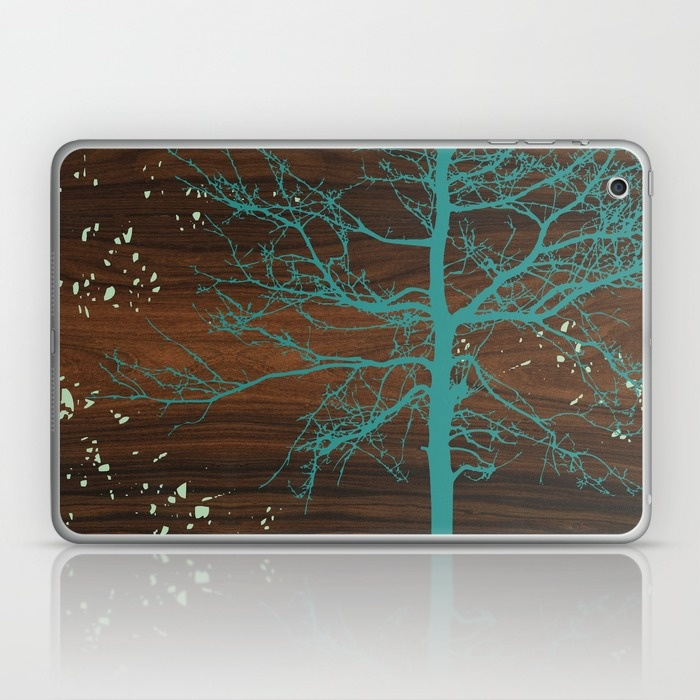 blue tree laptop and ipad skin