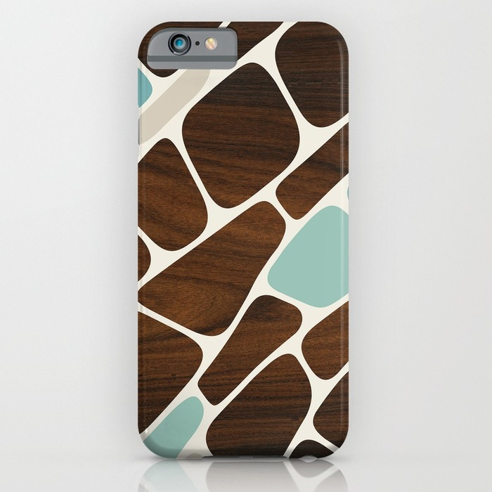 blues plant cells pattern designer phone case
