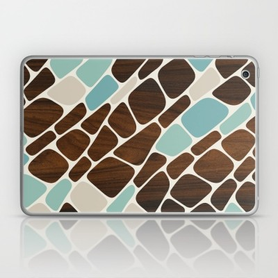 cell laptop and ipad skin in blue