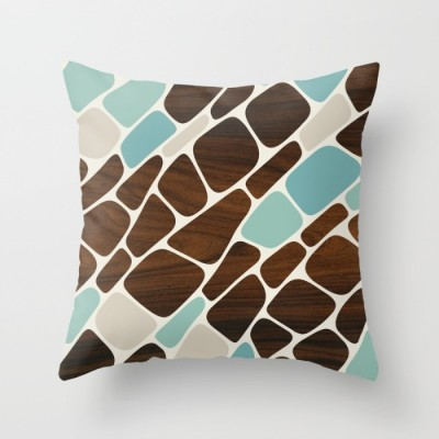 cell in blue throw pillow
