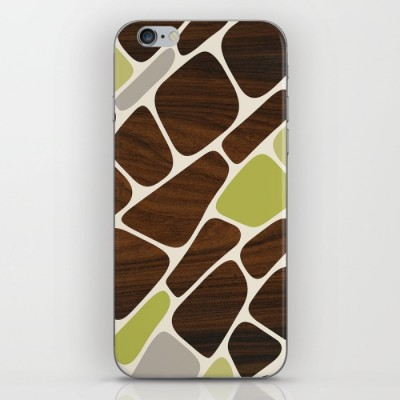 cell phone skin in green