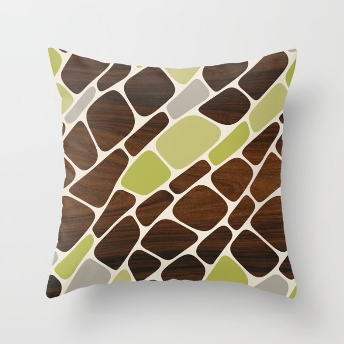 cell in green throw pillow