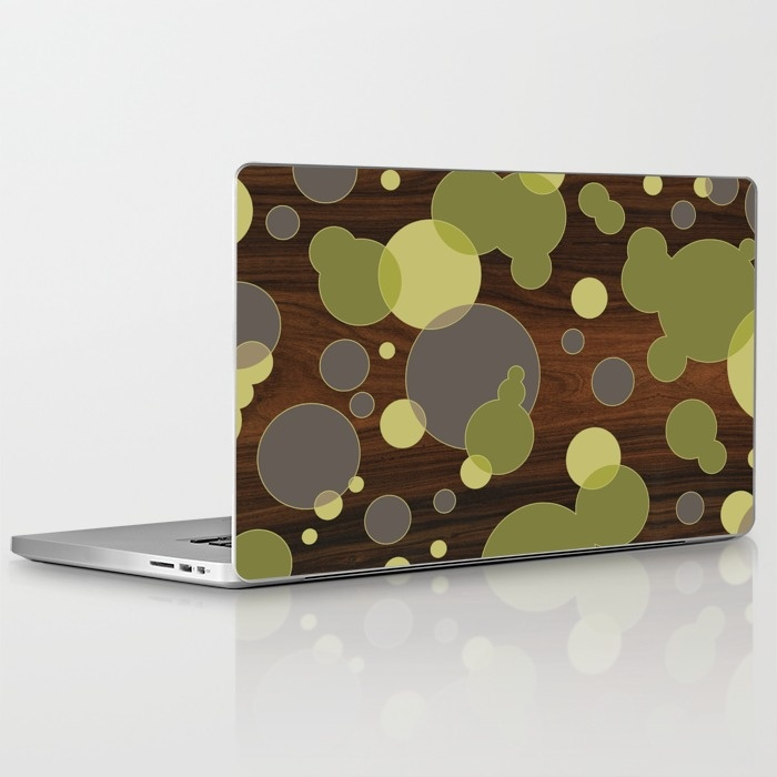 circular intersect laptop and ipad skin