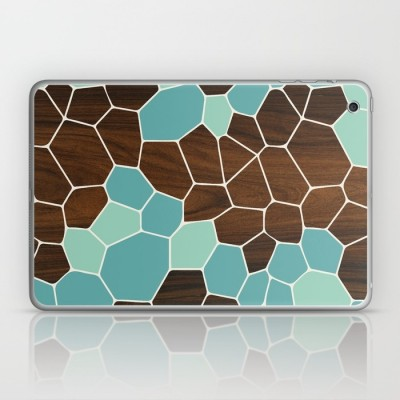 geode laptop and ipad skin in blue