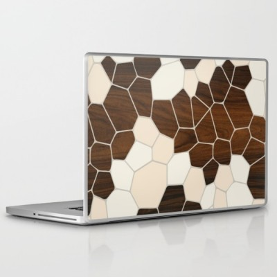 geode laptop and ipad skin in cream