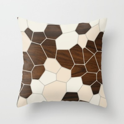 geode in cream throw pillow