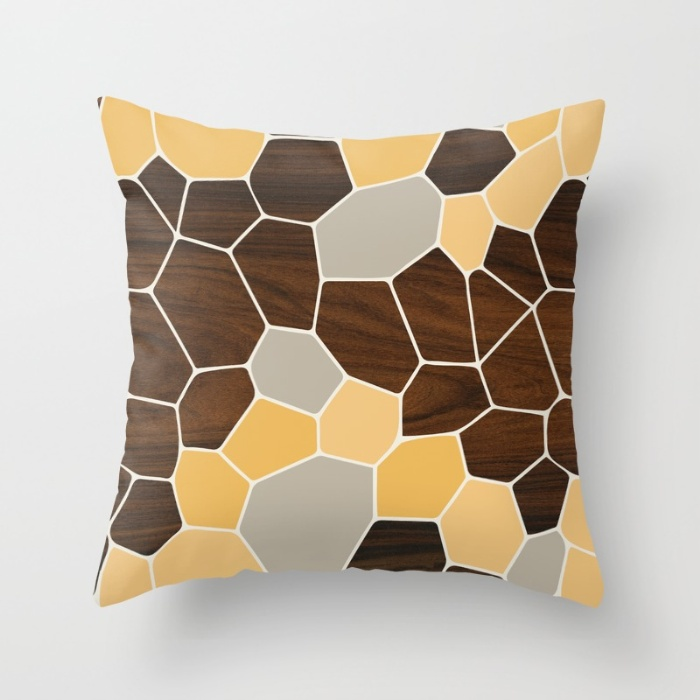 geode in orange throw pillow