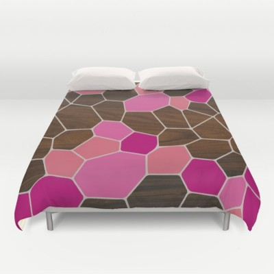 geode in pink duvet cover