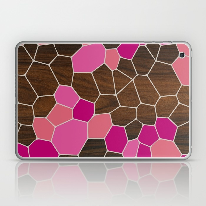 geode laptop and ipad skin in pink