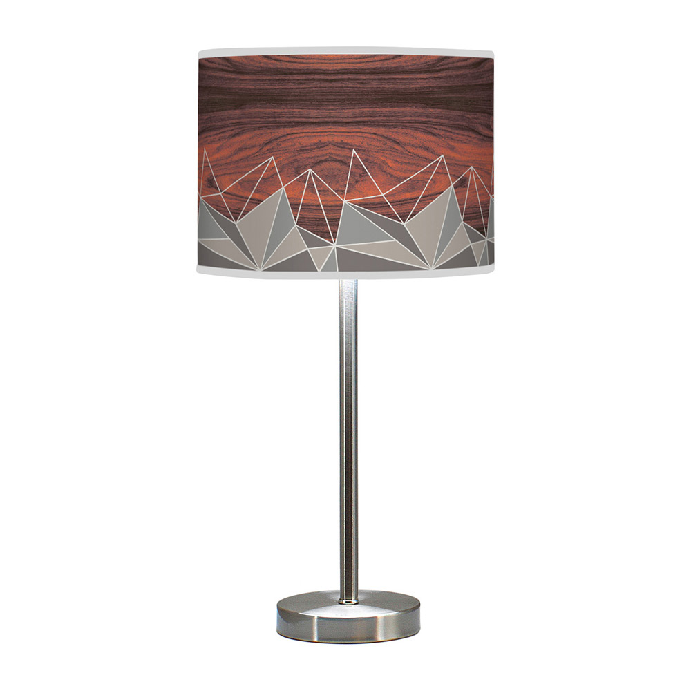 facet hudson table lamp grey