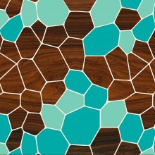 blue geode patterns geometric wall art prints