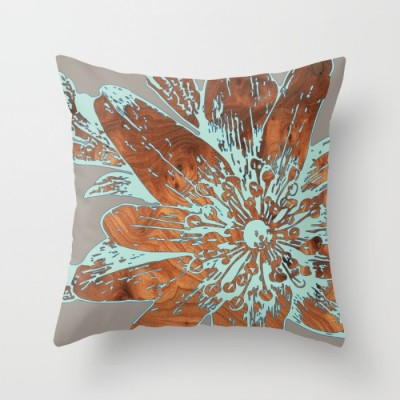 lily blue throw pillow