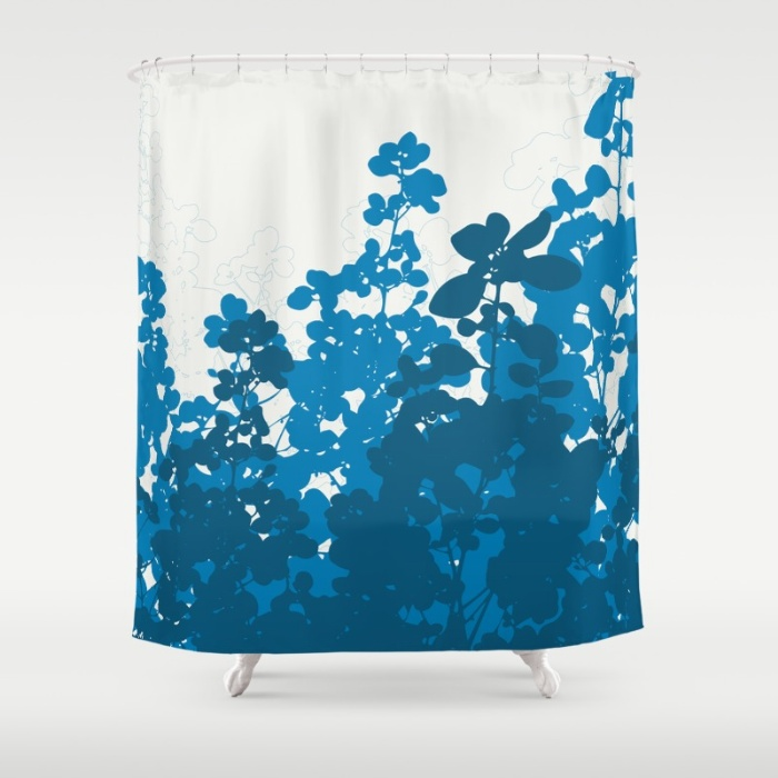 blue meadow shower curtain