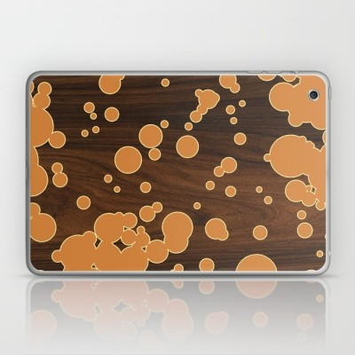 orange fizzy laptop and ipad skin
