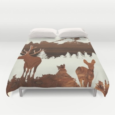 woodland design duvet cover