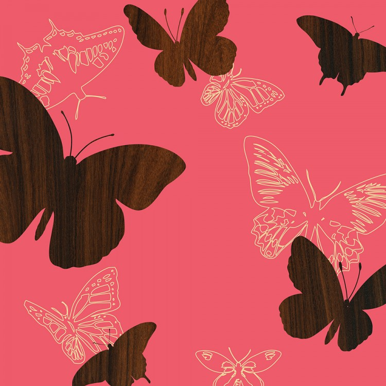 pink rose garden butterfly insects animal print