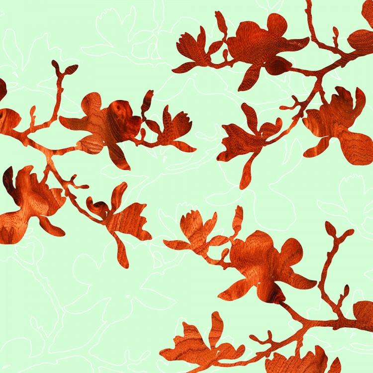 magnolia flower botanic Print