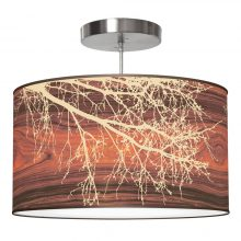 branch drum pendant brown