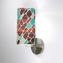 cell patterns printed shade column wall sconce