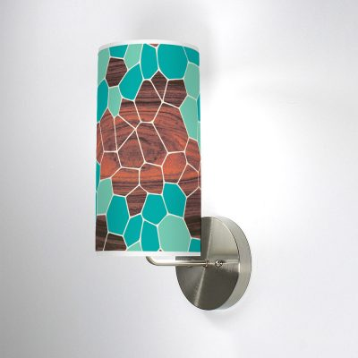 geode column wall sconce blue