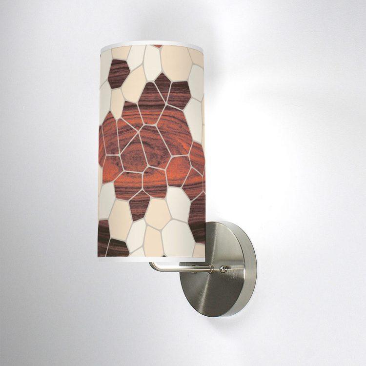 geode column wall sconce cream