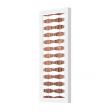 weave 3 plank wall sconce walnut