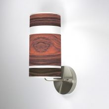 branch column wall sconce rosewood
