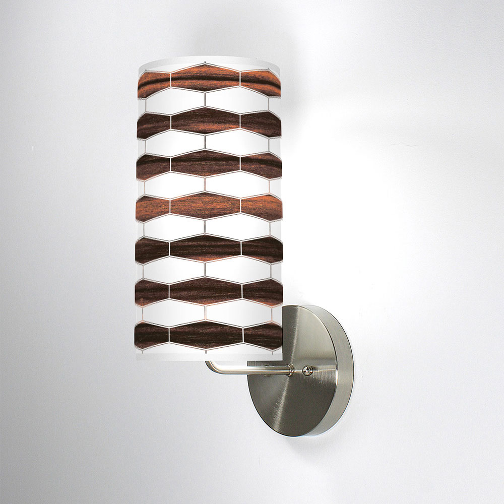 weave 3 column wall sconce ebony