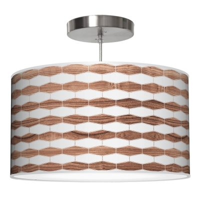 weave 3 drum pendant walnut