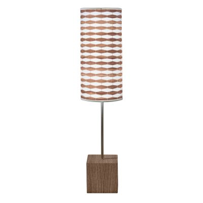 weave 3 cuboid table lamp walnut