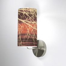 branch column wall sconce brown