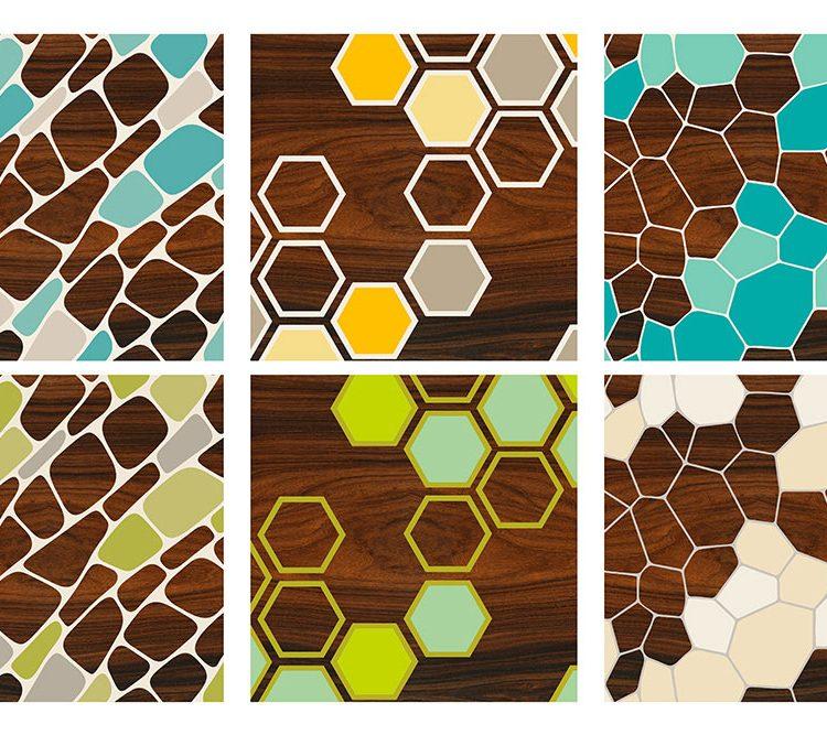 geometric print set