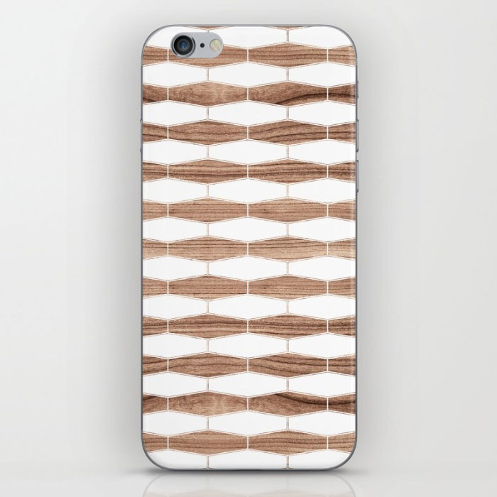 weave walnut phone skin