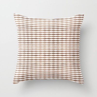 weave in walnut throw pillow