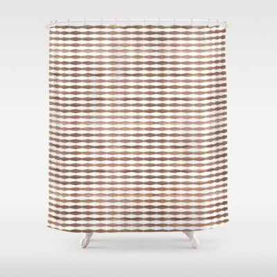 weave walnut shower curtain