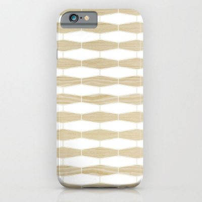 weave white oak phone case