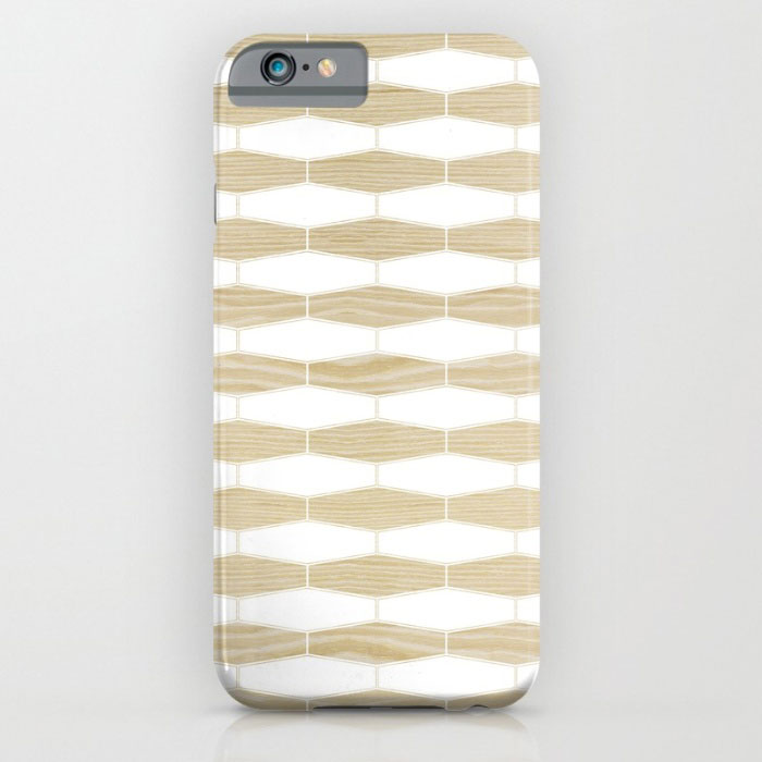 weave white oak pattern designer phone case