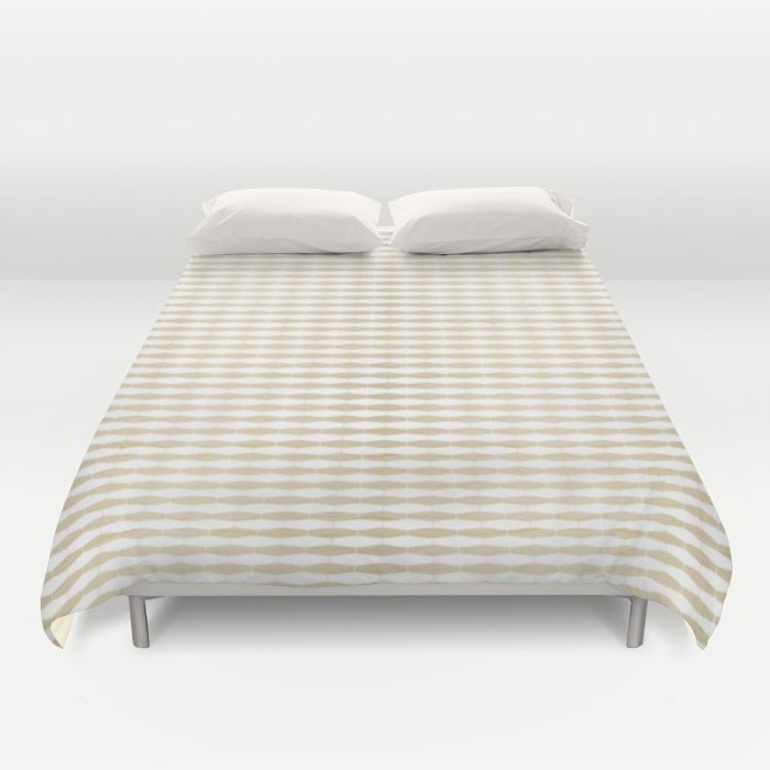 weave white oak duvet cover