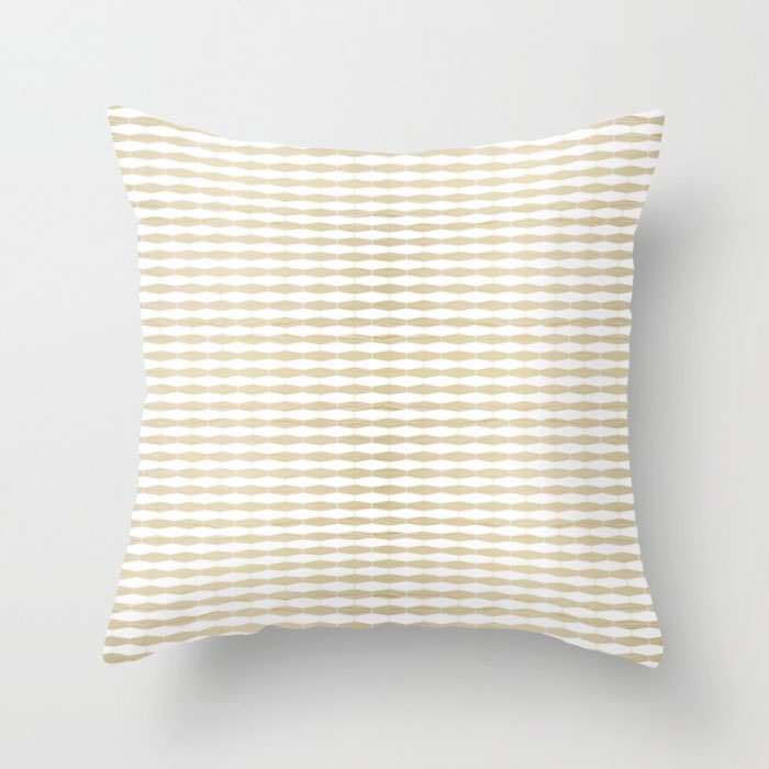 weave in white oak throw pillow