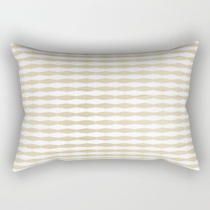 weave in white oak rectangular pillow