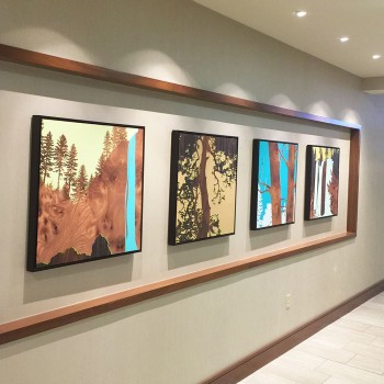 doubletree wall graphic