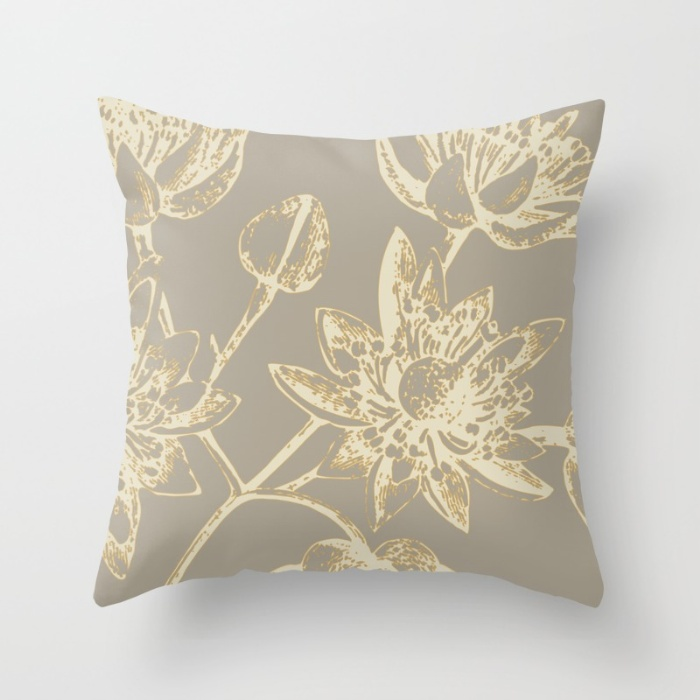 botanic 2 throw pillow