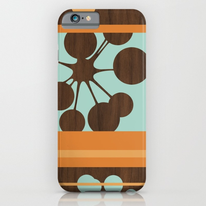 retro modern bubble pattern designer phone case