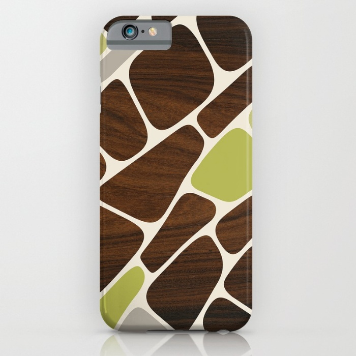 green plant cell pattern designer phone case