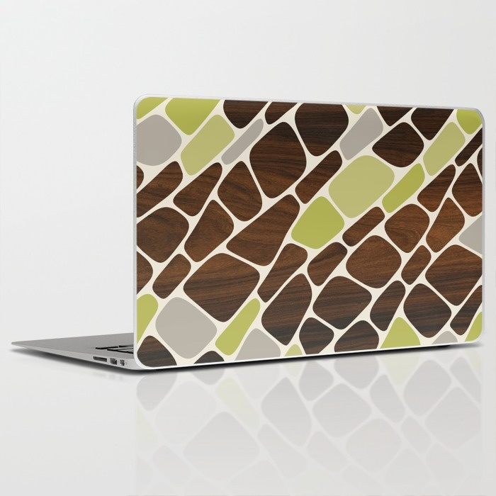 cell laptop and ipad skin in green