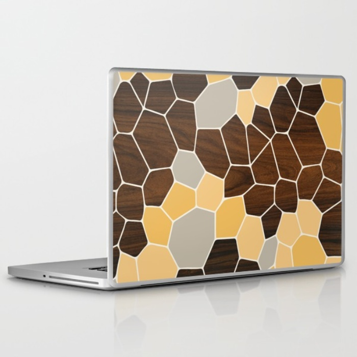 geode laptop and ipad skin in orange