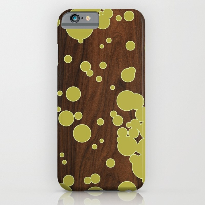 green fizzy bubbles pattern designer phone case