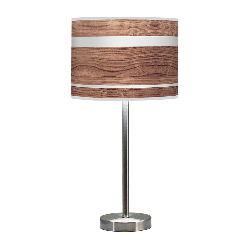 band pattern printed shade hudson table lamp