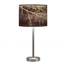 branch printed linen shade hudson table lamp