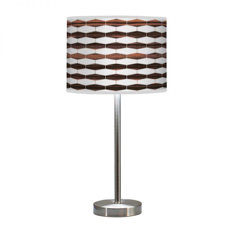 weave 3 hudson table lamp ebony